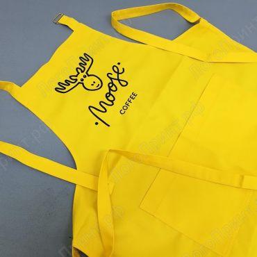 Пошив желтых фартуков для кафе
